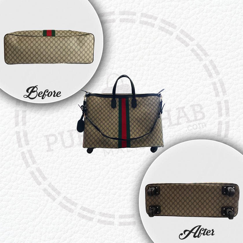 Purse Rehab | Wheels Added to Gucci Duffle